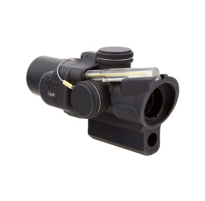 Trijicon 1.5x16S Compact ACOG Scope Dual Illum Amber Ring & 2 MOA Center Dot w/ M16 Carry Handle Bas