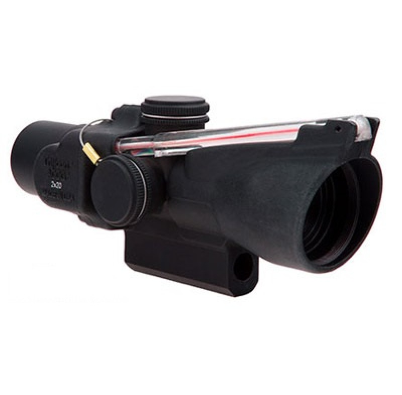 Trijicon 2x20 Compact ACOG Scope Dual Illum Red Crosshair w/ M16 Carry Handle Base & Mounting Screw