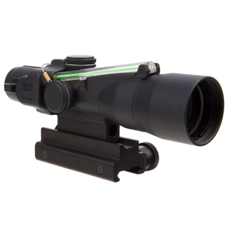 Trijicon 3x30 Compact ACOG Dual Illum Green Chevron 7.62x51mm/175gr Ballistic w/ Colt Knob Thumbscre